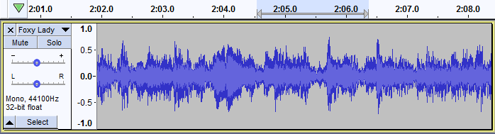 Audio Tracks at Audacity