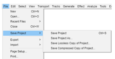 Save Tracks and Edit