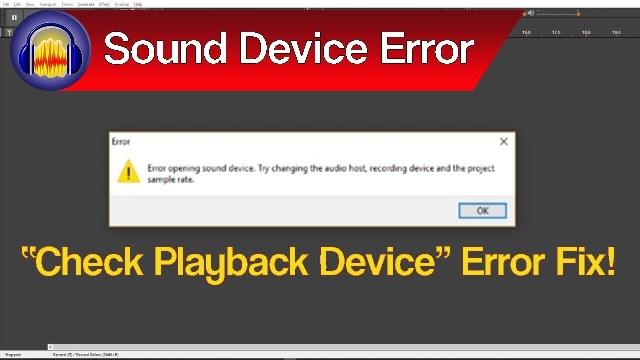 Error opening sound device