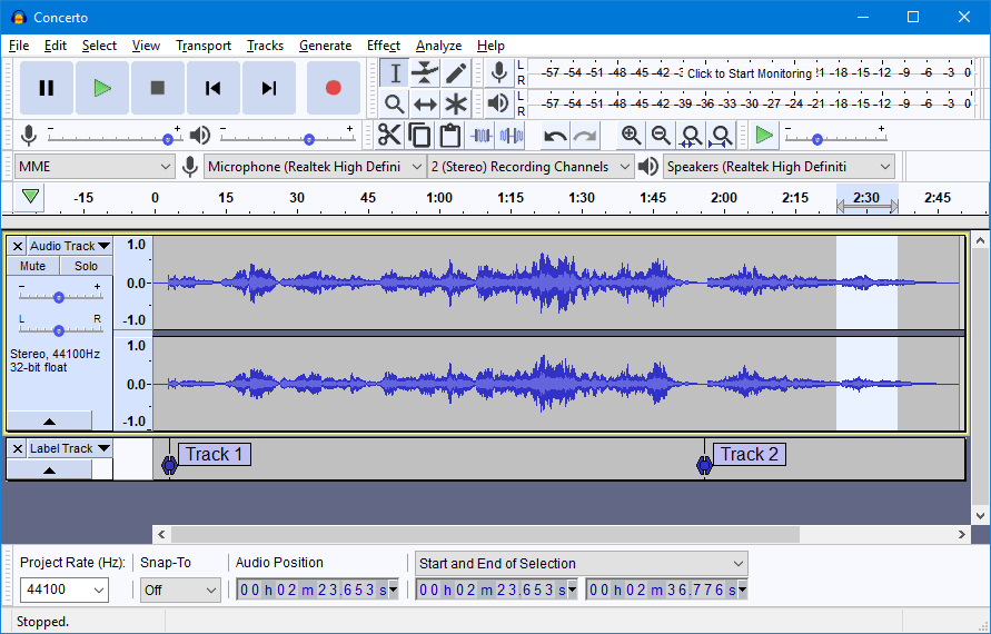 Filter your Music with Audacity