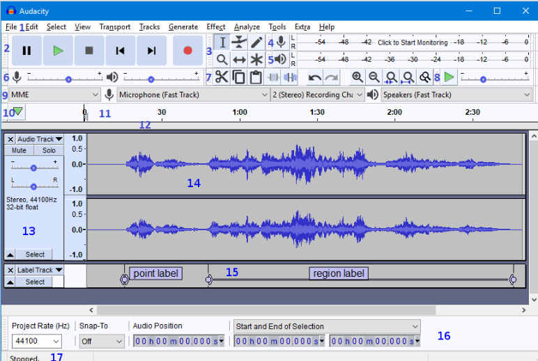 audacity customization